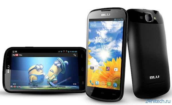 Blu Dash 4.5 — бюджетный смартфон с поддержкой HSPA+ и процессором MediaTek MT6589M