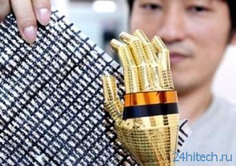 «Электронная кожа» сделает роботов и стены чувствительнее