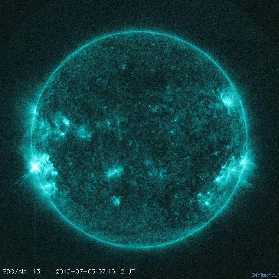 Июльские солнечные вспышки