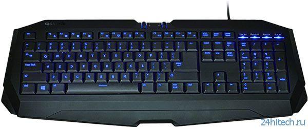 Клавиатура Gigabyte Force K7 Stealth ориентирована на любителей игр