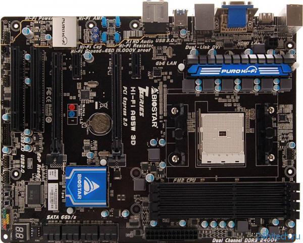 Материнская плата Biostar Hi-Fi A85W 3D с поддержкой AMD FM2 APU и качественной аудиоподсистемы