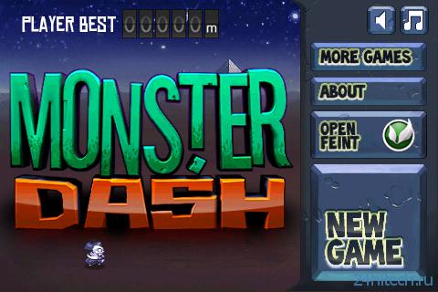 Monster Dash 1.25. Скроллинговая аркада.