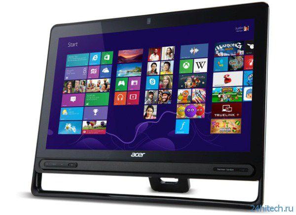 Новые моноблоки Acer AZ3-605 предлагают 23-дюймовый экран IPS разрешением Full HD