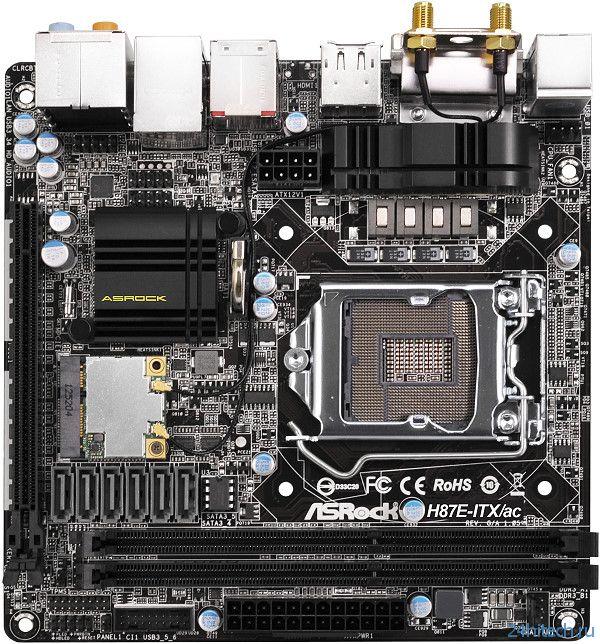 Первая Mini-ITX материнская плата ASRock H87E-ITX/ac с беспроводным модулем 802.11ac
