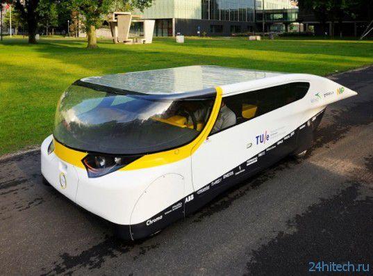 Построен семейный солнечный автомобиль