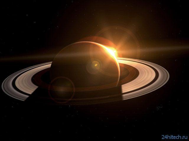 Появилась новая графическая анимация Сатурна