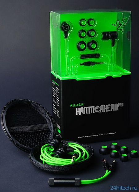Razer анонсировала вакуумные наушники Hammerhead