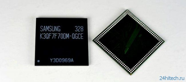Samsung первой начала выпуск микросхем памяти LPDDR3 объемом 3 ГБ