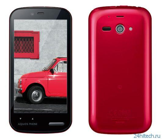 Смартфон Sharp Aquos Phone es WX04SH во влагозащищённом корпусе