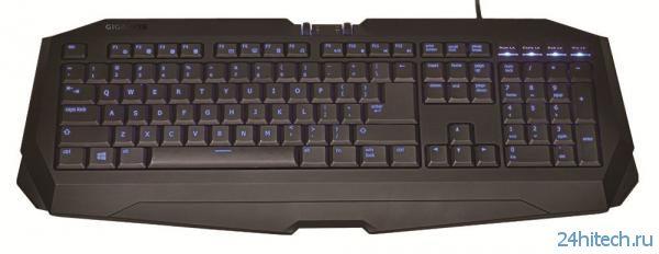 Тонкая игровая клавиатура GIGABYTE FORCE K7 мембранного типа