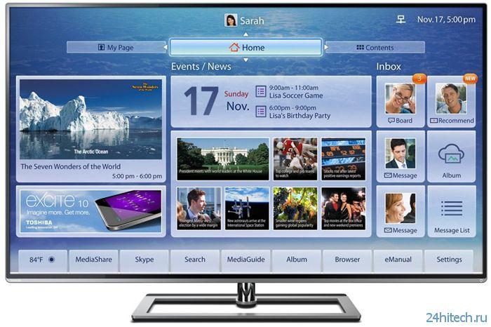 Toshiba назвала цены телевизоров формата Ultra HD