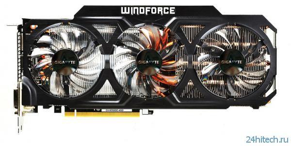 Видеокарта GIGABYTE GeForce GTX 760 (GV-N760OC-4GD) c кулером WINDFORCE 3X 450W