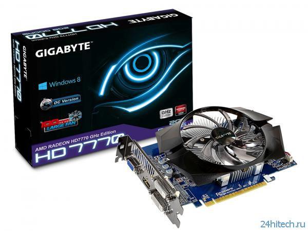 Видеокарта GIGABYTE Radeon HD 7770 (GV-R777OC-2GI (rev. 2.0)) с оптимизированными параметрами