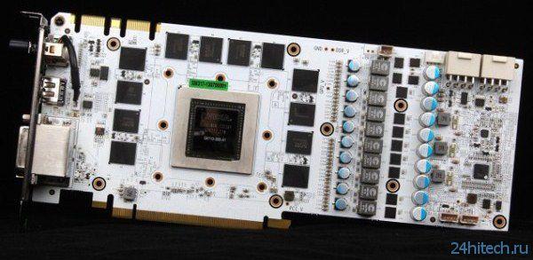 Видеокарта Galaxy GeForce GTX 780 HOF получила белую печатную плату с танталовыми конденсаторами