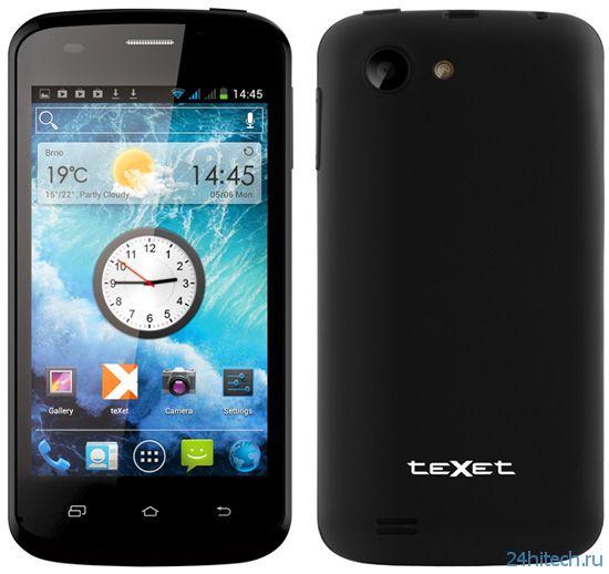 Бюджетный смартфон teXet X-point для двух SIM-карт