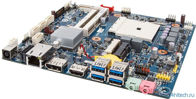 Мини-плата GIGABYTE на AMD A75 для APU под Socket FM2
