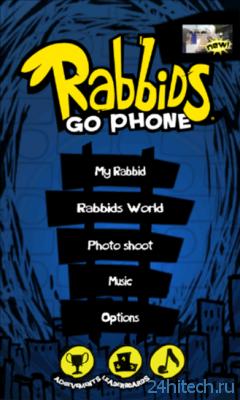 Rabbids Go Phone 1.0 Игра про сумасшедших зайцев