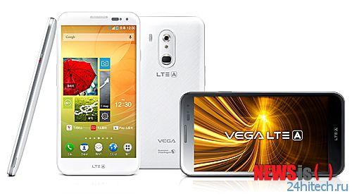 Смартфон Pantech Vega LTE-A получил экран диагональю 5,6 дюйма разрешением Full HD и SoC Snapdragon 800