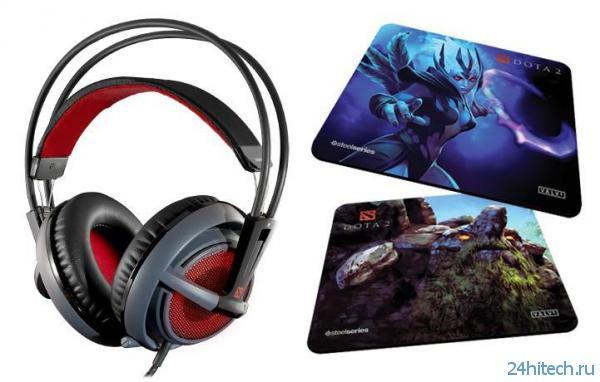 SteelSeries и Valve представили наушники Siberia v2 Dota 2 Edition и новые игровые коврики