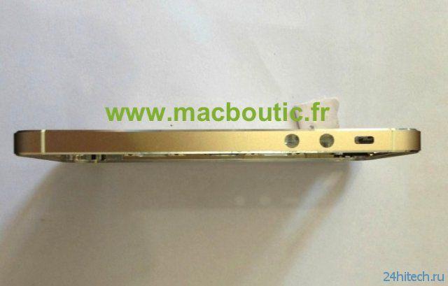 Золотистый корпус iPhone5S (5 фото)