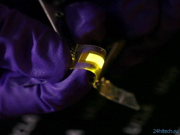 Гибкие светодиоды из Калифорнийского университета (видео)