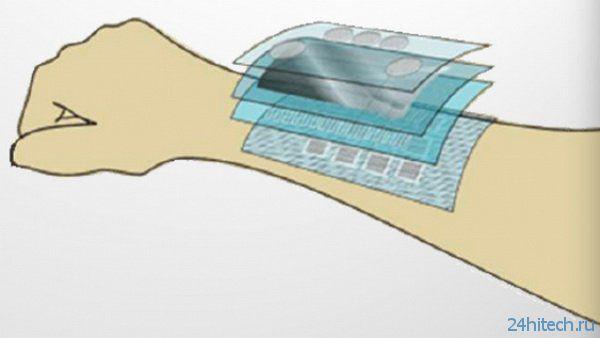 Гибкий датчик для искусственной кожи