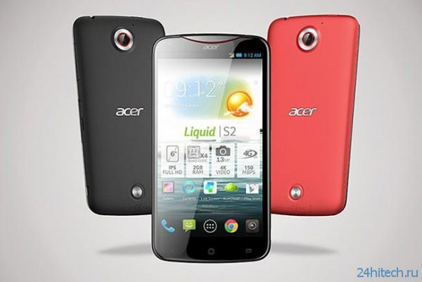 Iconia A3 и Liquid S2 — новые смартфон и фаблет от Acer