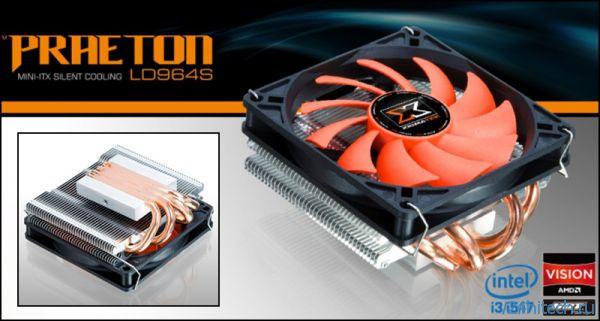 Компактный CPU-кулер XIGMATEK Praeton LD964s с прямым контактом