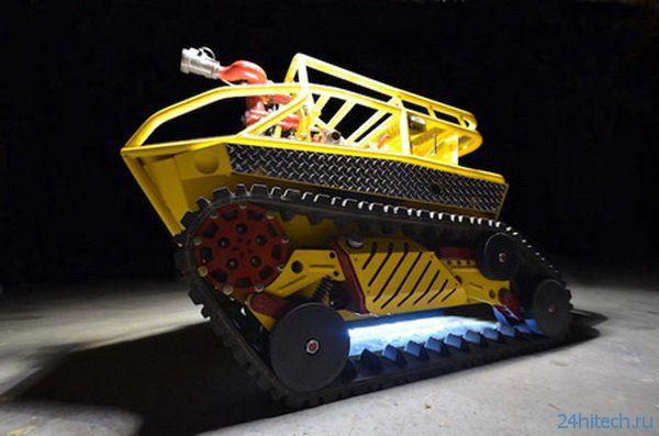 Миниатюрный робот-пожарник