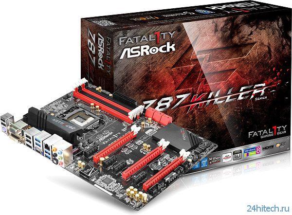 Плата ASRock Fatal1ty Z87 Killer для любителей сетевых игр