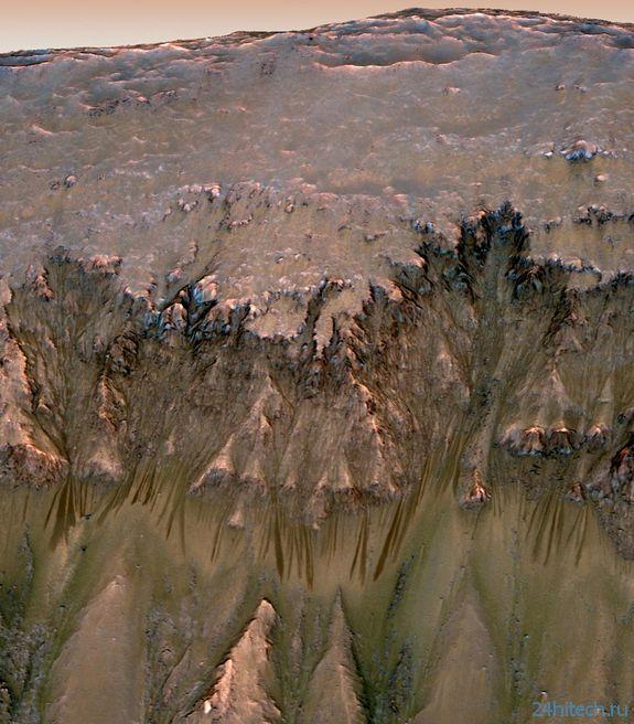 Жидкая вода на Марсе: очевидность