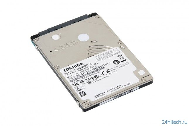 Жёсткие диски Toshiba MQ02ABF ёмкостью до 1 Тбайт для тонких ноутбуков