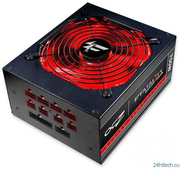 Новые игровые блоки питания серии OCZ Fatal1ty мощностью 550 и 750 Вт