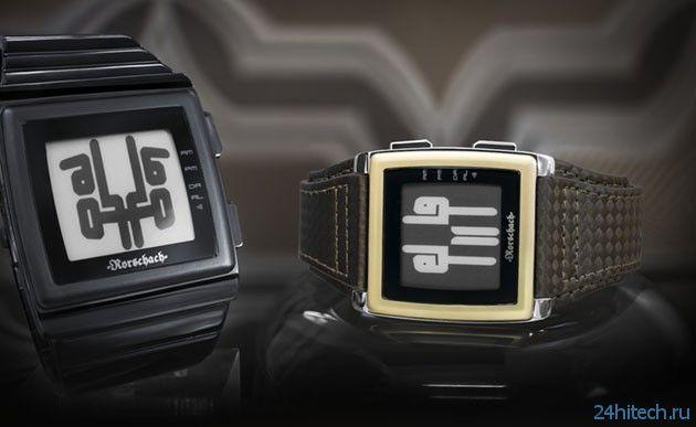 Часы TokyoFlash с пятнами Роршаха (видео)