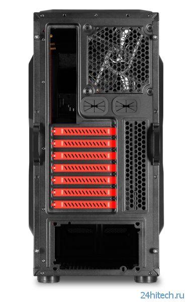 Корпус Sharkoon Bulldozer способен разместить в себе системные платы типоразмера ATX