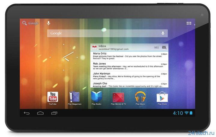 Планшет Ematic Genesis Prime XL с 10-дюймовым дисплеем