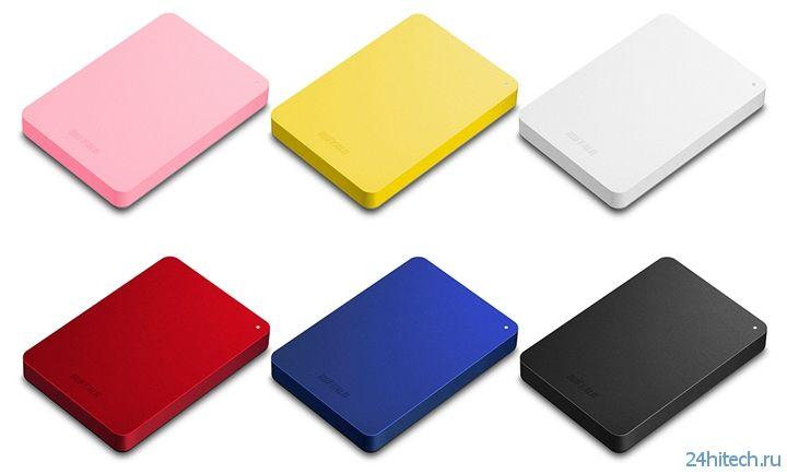 Портативные винчестеры Buffalo HD-PNFU3 в разноцветных корпусах