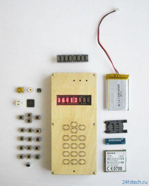 Самодельный мобильный телефон (7 фото)