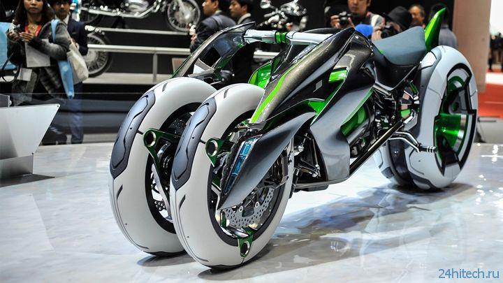 Tokyo Motor Show 2013: трёхколёсный трансформируемый байк Kawasaki J на электротяге