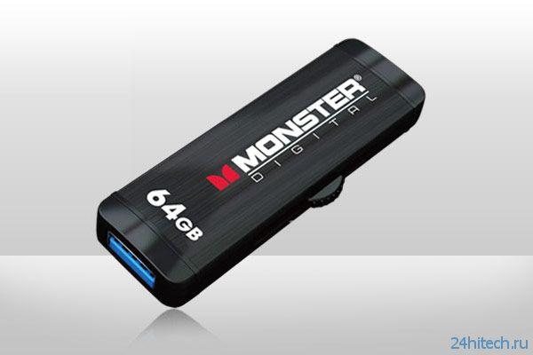 Флэшки серии Monster Digital Advanced USB 3.0 OTG оснащены одновременно разъемами USB и micro-USB
