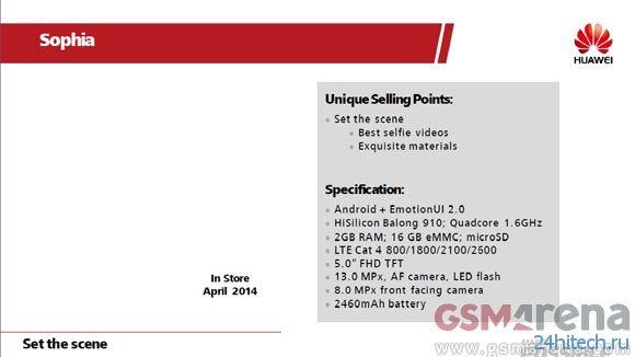 Известны подробности технической спецификации смартфона Huawei Ascend P7