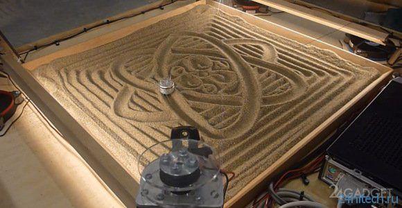 Механизм для создания узоров на песке (видео)