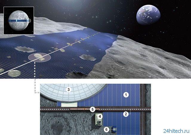 Солнечные батареи на Луне обеспечат Землю электричеством (3 фото)