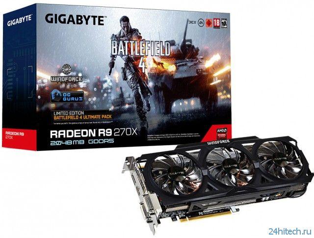 Три новых видеокарты компании GIGABYTE продаются в комплекте с игрой Battlefield 4