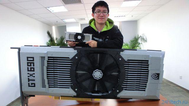 Видеокарта Nvidia GeForce GTX 690 из конструктора LEGO (9 фото)