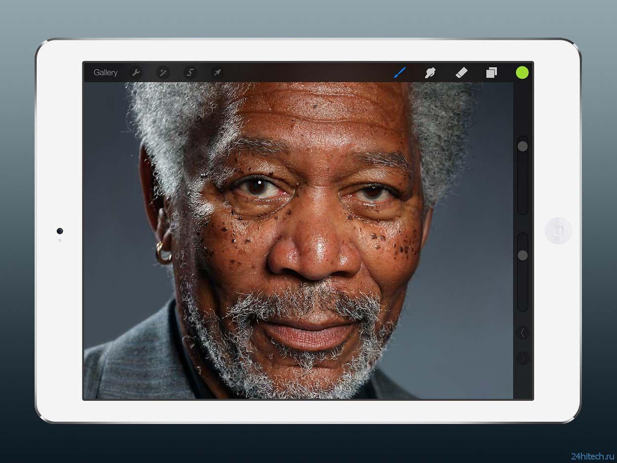 #видео дня |Удивительный портрет Моргана Фримена, нарисованный на iPad