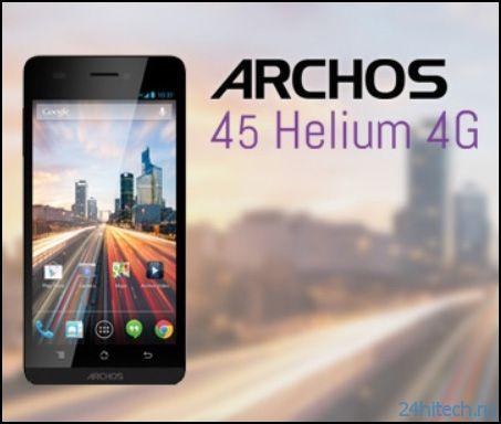 Анонс двух LTE-смартфонов серии Helium 4G от ARCHOS