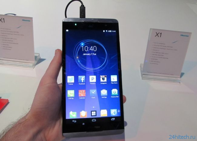 "CES 2014: фаблет-гигант Hisense X1 с дисплеем 6,8"""