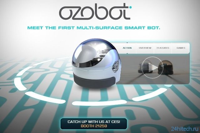 CES 2014: миниатюрный робот Ozobot будет играть вместе с владельцем