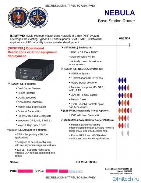"Гаджеты для ""цифрового"" шпионажа от АНБ"